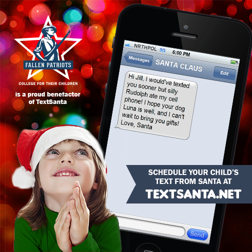 personalized text message from santa claus todays generation often believe that if its on the computer or a phone its real