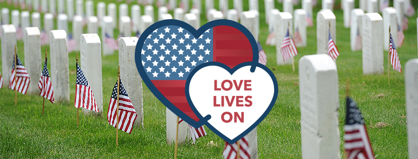 This Valentine's Day let us honor our Fallen Heroes by spreading love.
