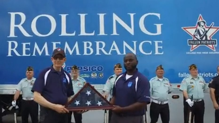 Rolling Remembrance, a partnership between PepsiCo and the Children of Fallen Patriots Foundation, had a ceremony in Bradenton, FL along the 8,000-mile cross-country relay to raise college scholarship funds for Gold Star children. (Children of Fallen Patriots Foundation)