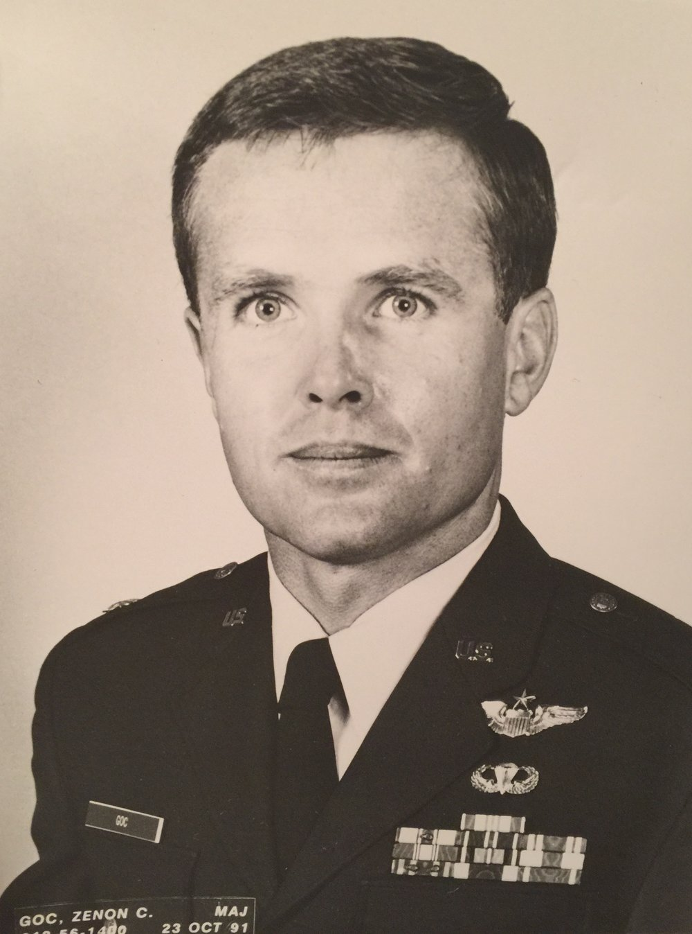 Air Force Maj. Zenon Goc, who was killed in a B-1 Bomber crash in 1992. (Children of Fallen Patriots Foundation)