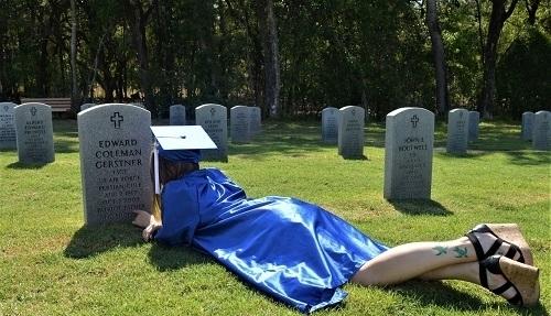 C. Hansen at father's grave.jpg