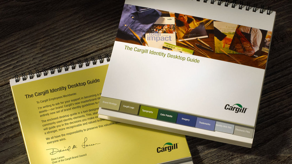 Cargill brand identity standards desktop guide