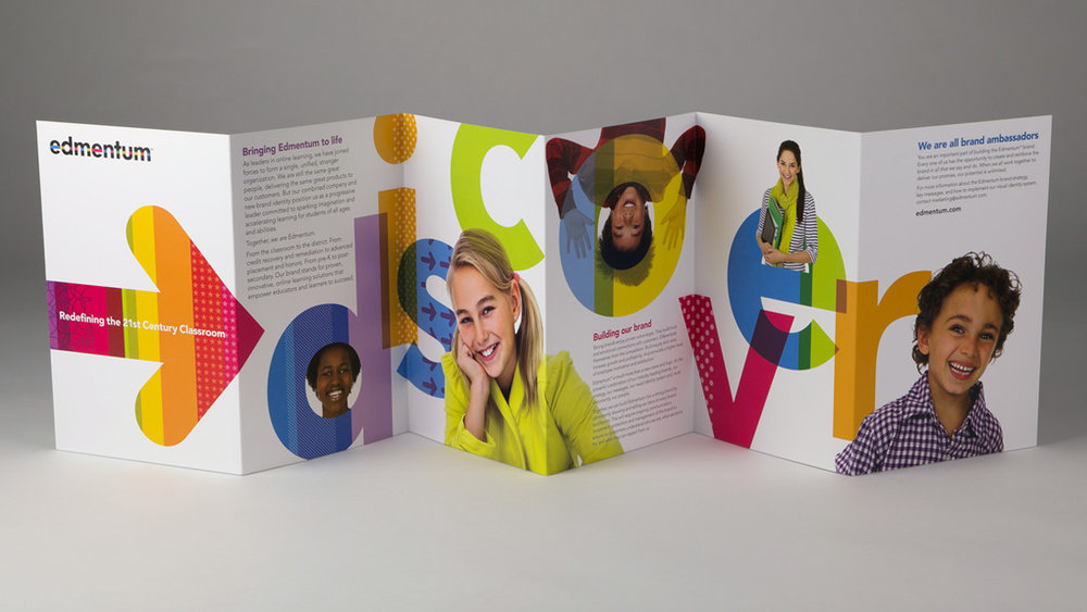 Edmentum employer brand launch brochure design