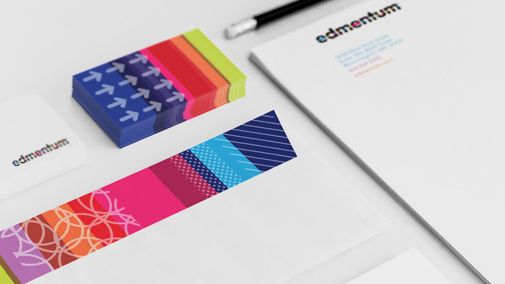 Edmentum corporate stationery design