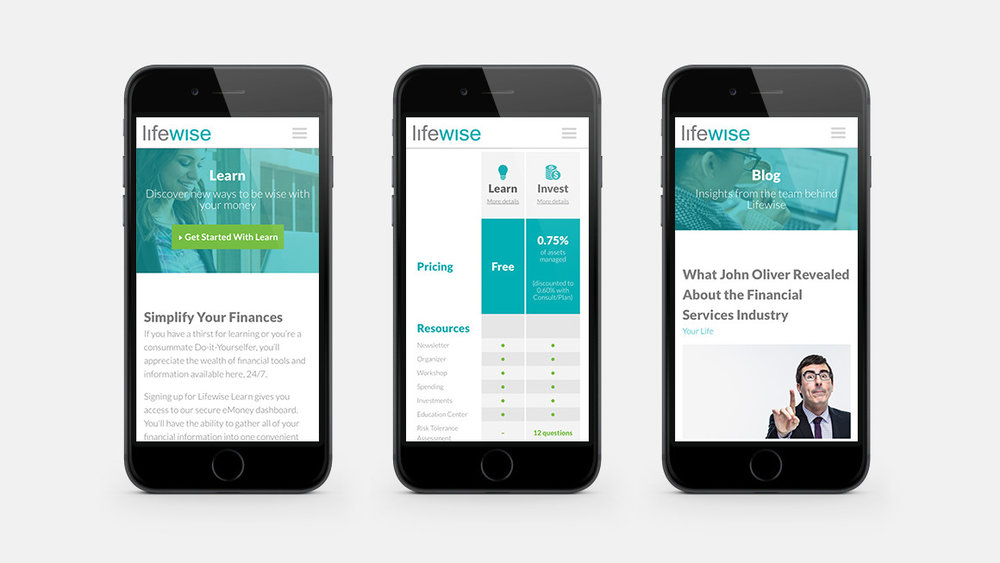 Lifewise website shown on smart phone