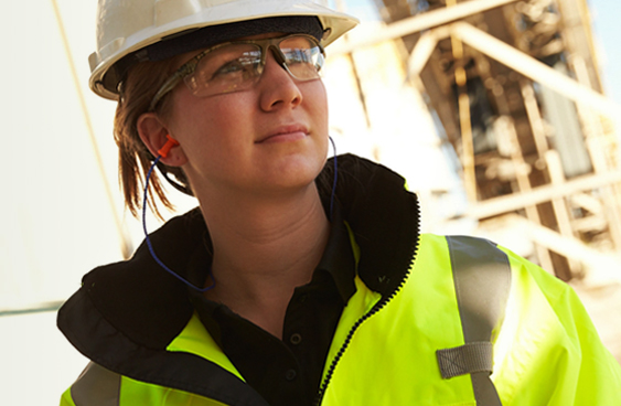 Photo of female Mosaic miner