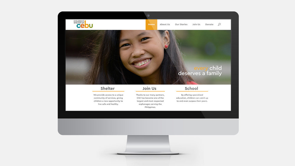 Children's Shelter of Cebu website design