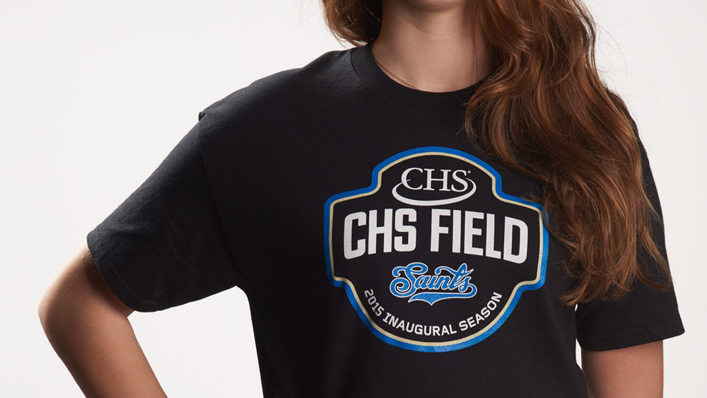 CHS Field inaugural season emblem on t-shirt