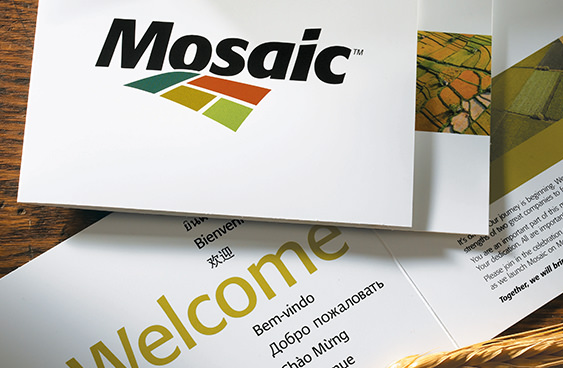 The Mosaic Company brand launch communications