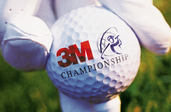 3M Championship logo design on golf ball