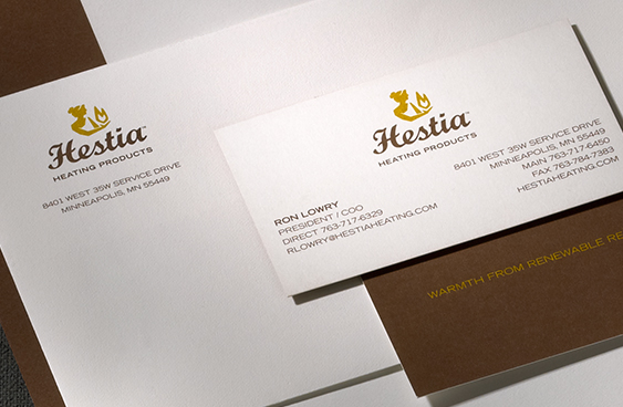 Hestia Heating Products stationery