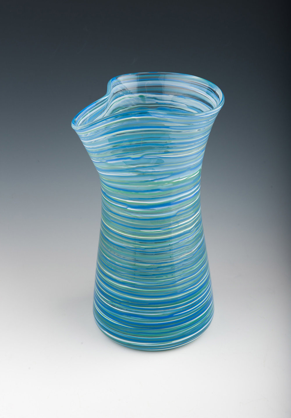 Hoops Carafe seen here in Sea Stripe.