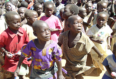 Children displaced the LRA in northern Uganda. Photograph by an employee of the United States Agency for International Development.