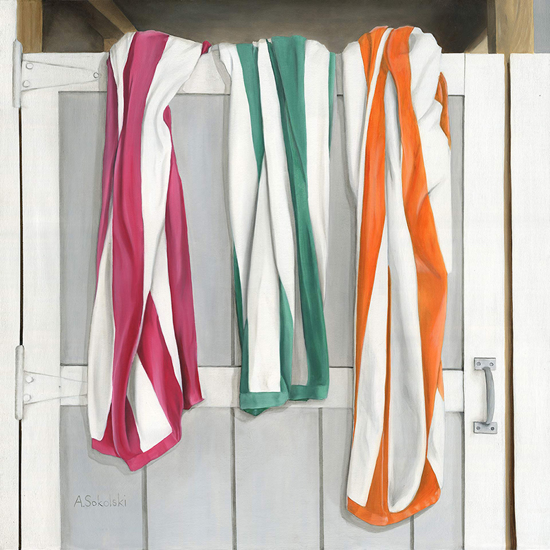 "Three Striped ""Traffic Light"" Beach Towels"