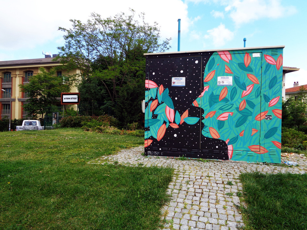 Mural commissioned by Besiktas international festival, Istanbul 2016