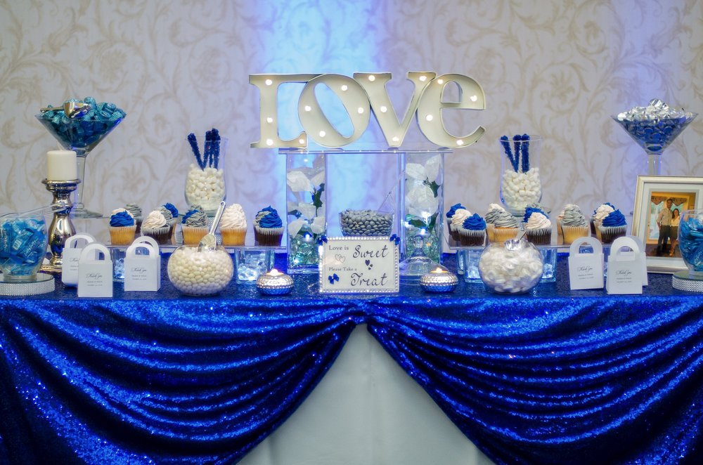 Royal Blue Candy Table