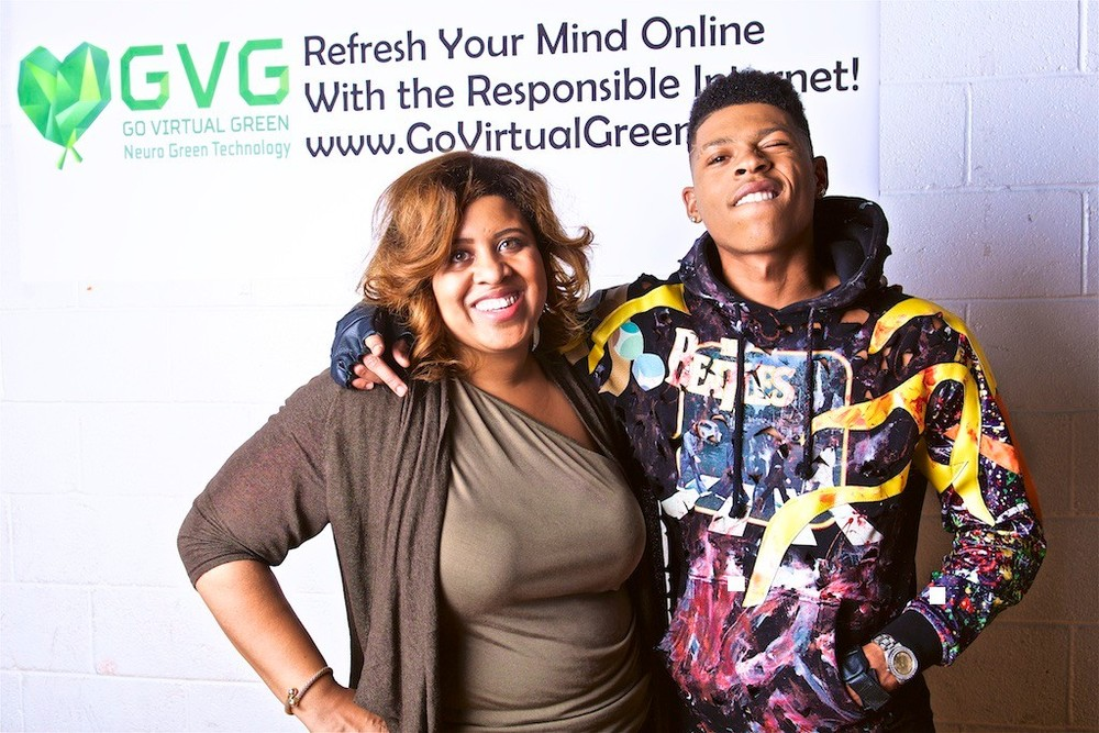 "Yazz and Oliva Wall SVP and Neuroscientist at BeOfficial MG's ""Go Virtual Green"" Photo Shoot"