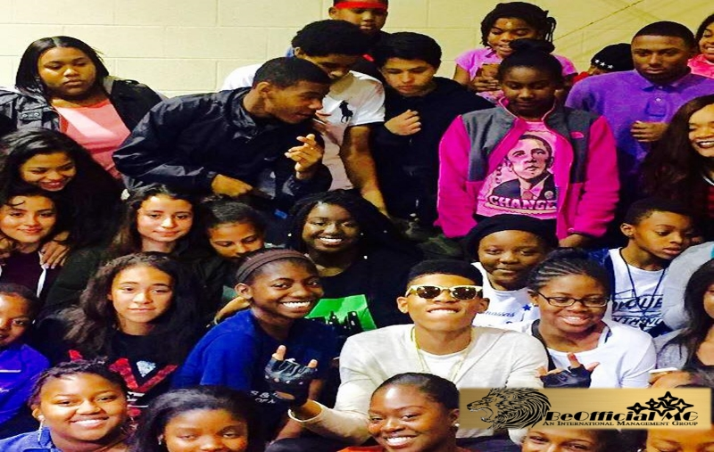 "BeOffical MG partners with Bryshere Gray aka ""Yazz the Greatest"" at a VIP behind the scenes  BeOfficial MG commercial shoot"