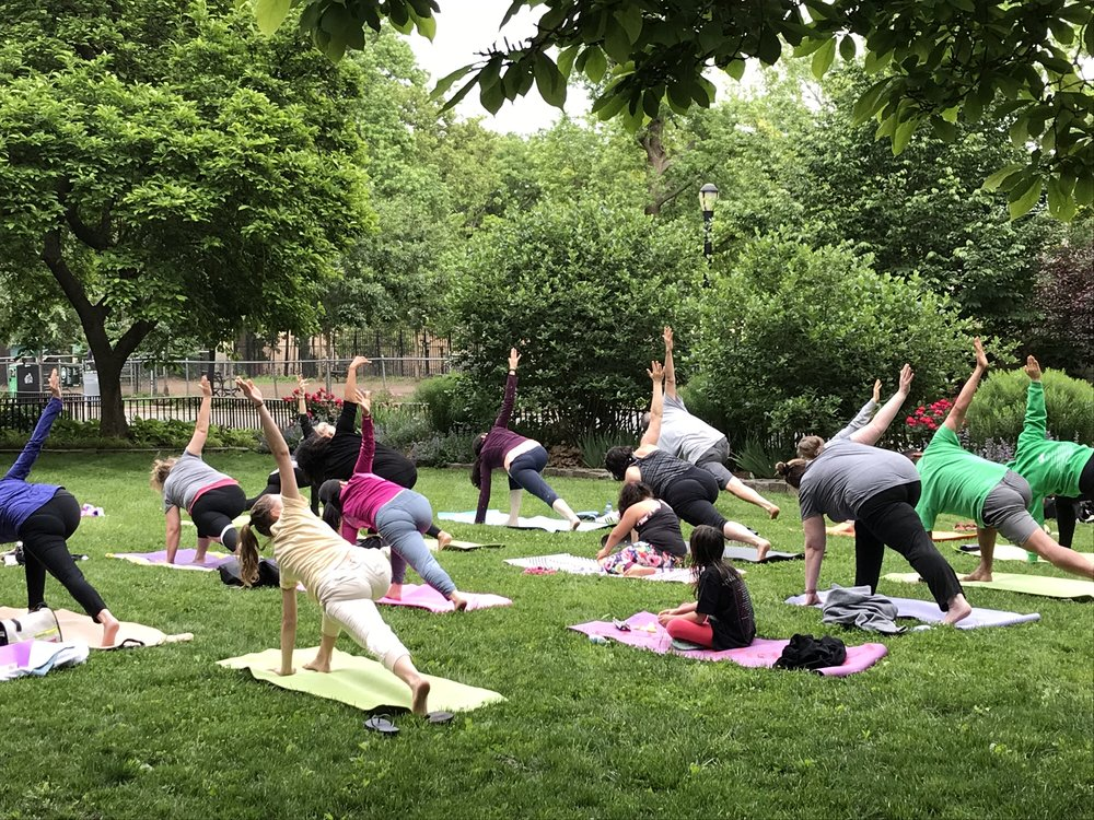Weekly free yoga classes all summer long