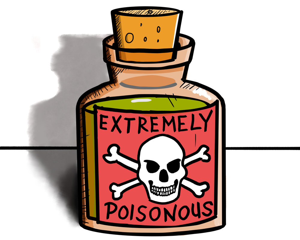 "Illustration for Sierra Club blog, ""The Poison found in Kitchens and Homes across America"" (2017)"