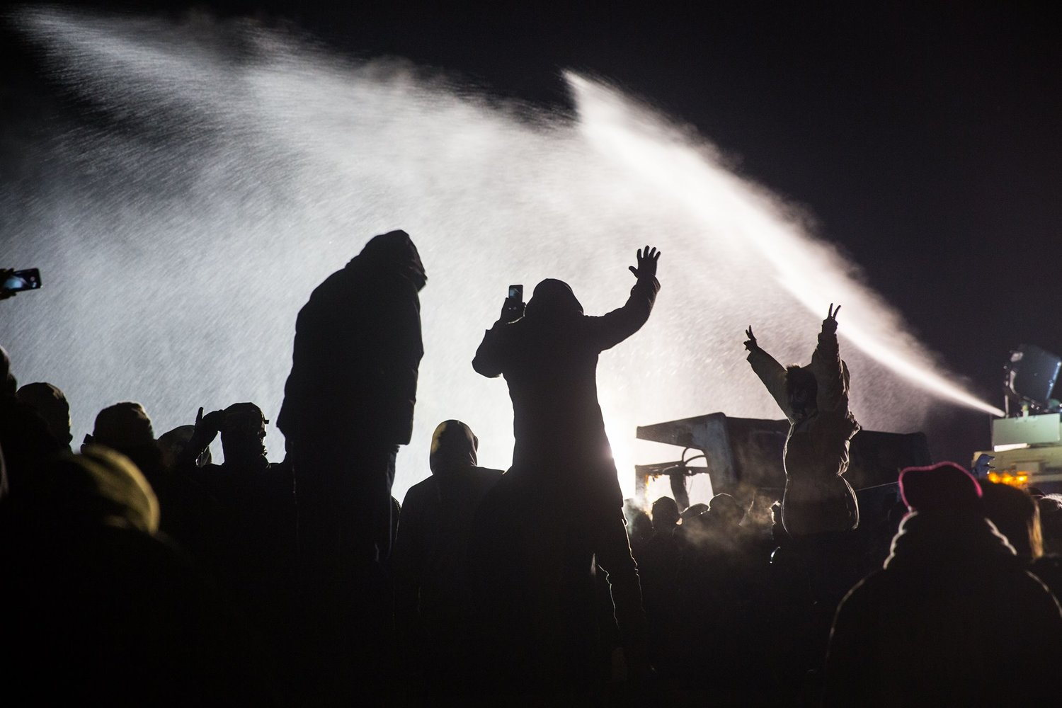 Water Cannons Fired at Water Protectors in Freezing Temperatures Injure Hundreds