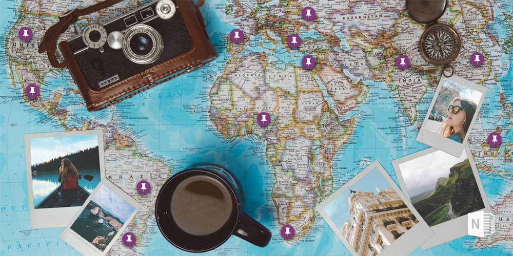 Use OneNote to fuel your wanderlust. Pin from A to B, and everywhere in between.