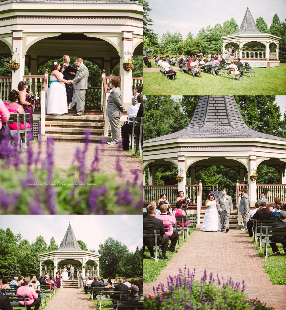 Purple and Teal Wedding at the Gazebo at Boardman Park in Oh