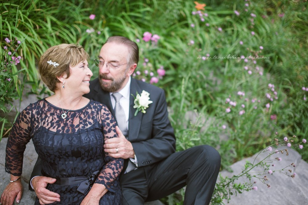 Wedding poses for older couple