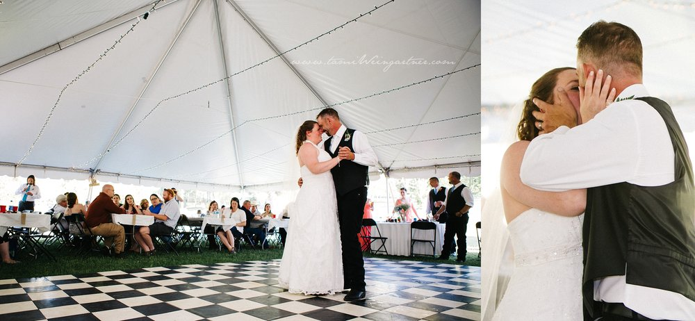 Backyard Tent Wedding in New Castle PA