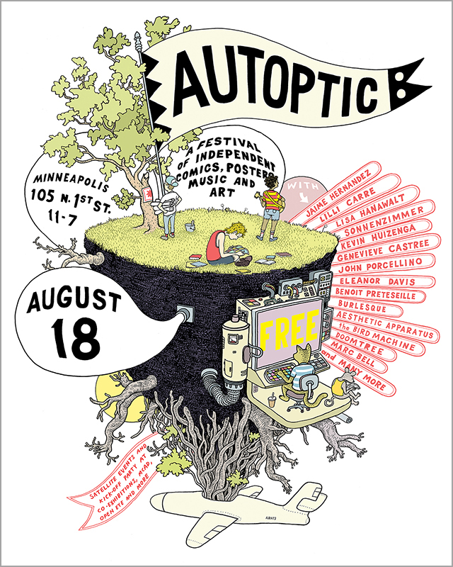 Event Poster for Autoptic Festival