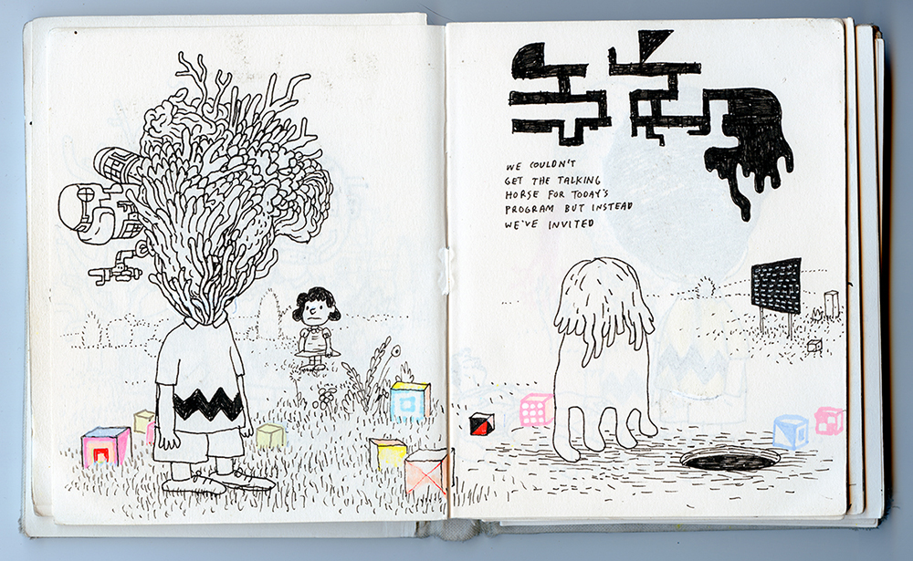 sketchbook spread, 2016