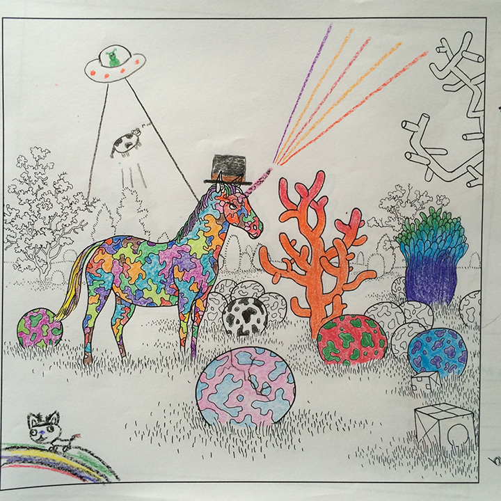 Rainbows and unicorns. And aliens and a top-hat