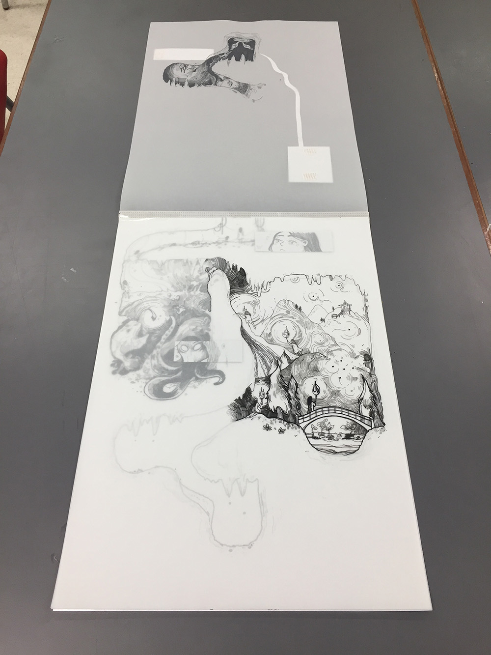 Sirusanant Yananissorn (Kade) [drawings on transparency that are slowly revealed as you turn pages.]