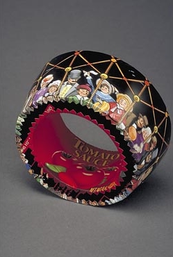 Column Bracelet with people in black hot air balloon, 2004