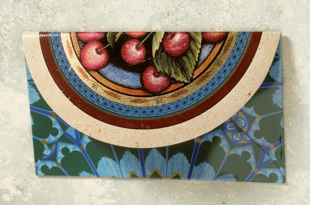 Judaica Tzedakah Envelope -Cheeries food