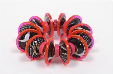 Berman-Harriete-Identity Bead Bracelet - Pink and Black