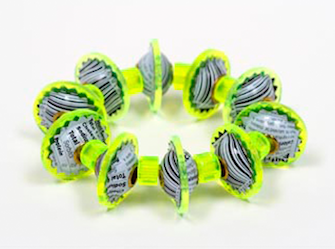 Berman-Harriete-Identity Bead Bracelet - Lime UPC