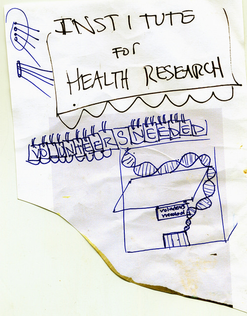 Working drawing for the Institute for Health Research.