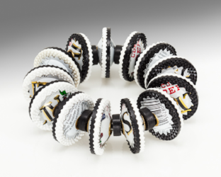Berman-Harriete-Identity Bead Bracelet - Black and White Altoids