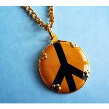 Vintage Peace Sign Pendant from the 1960's