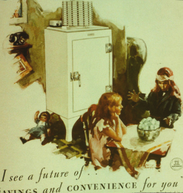 old ad for monitor top refrigerator