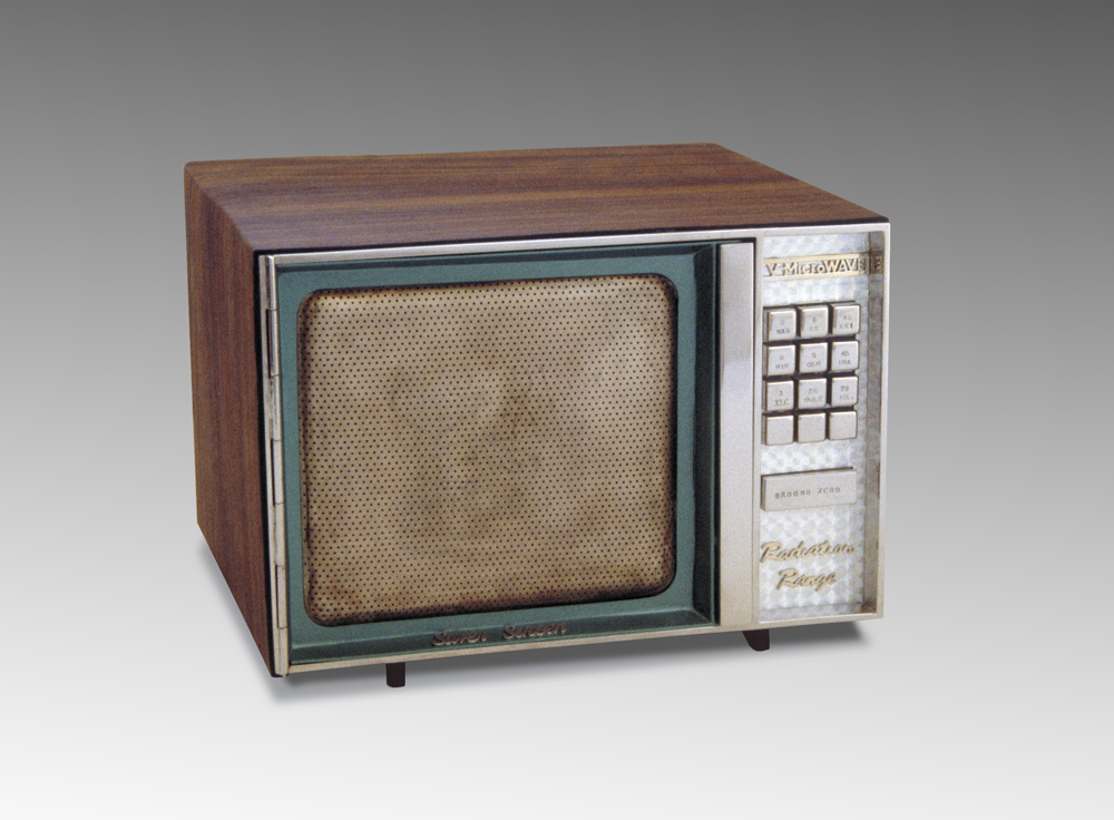 TV Microwave appliance sculpture