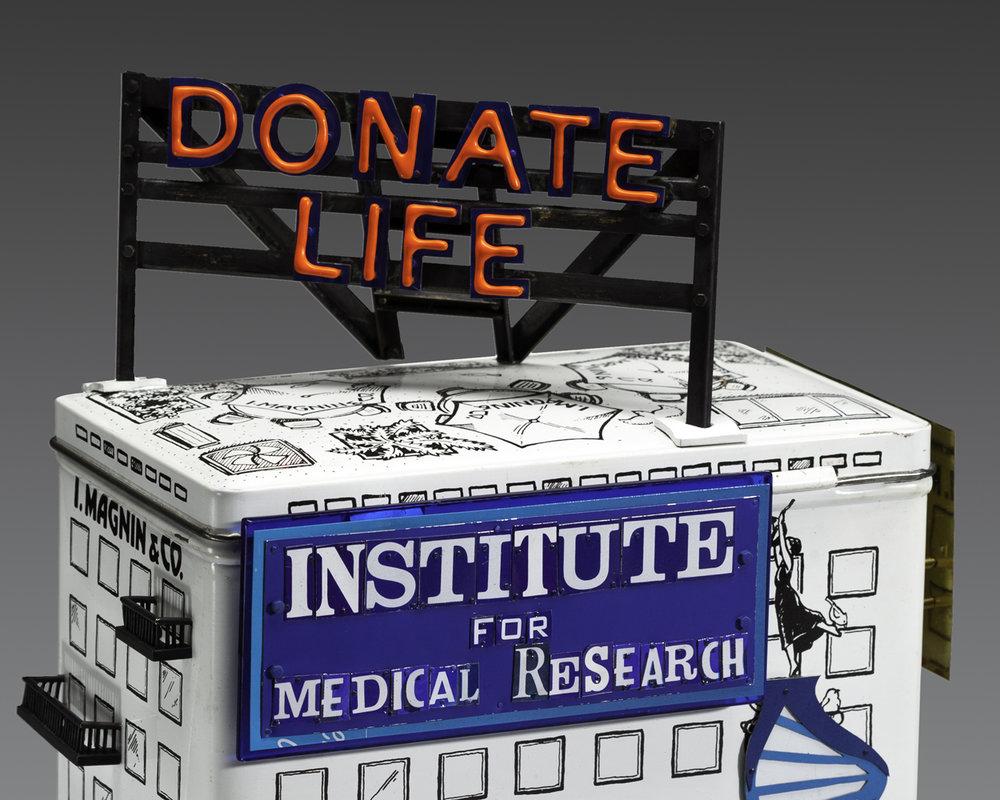 Donate Life Tzedakah box contemporary judaica