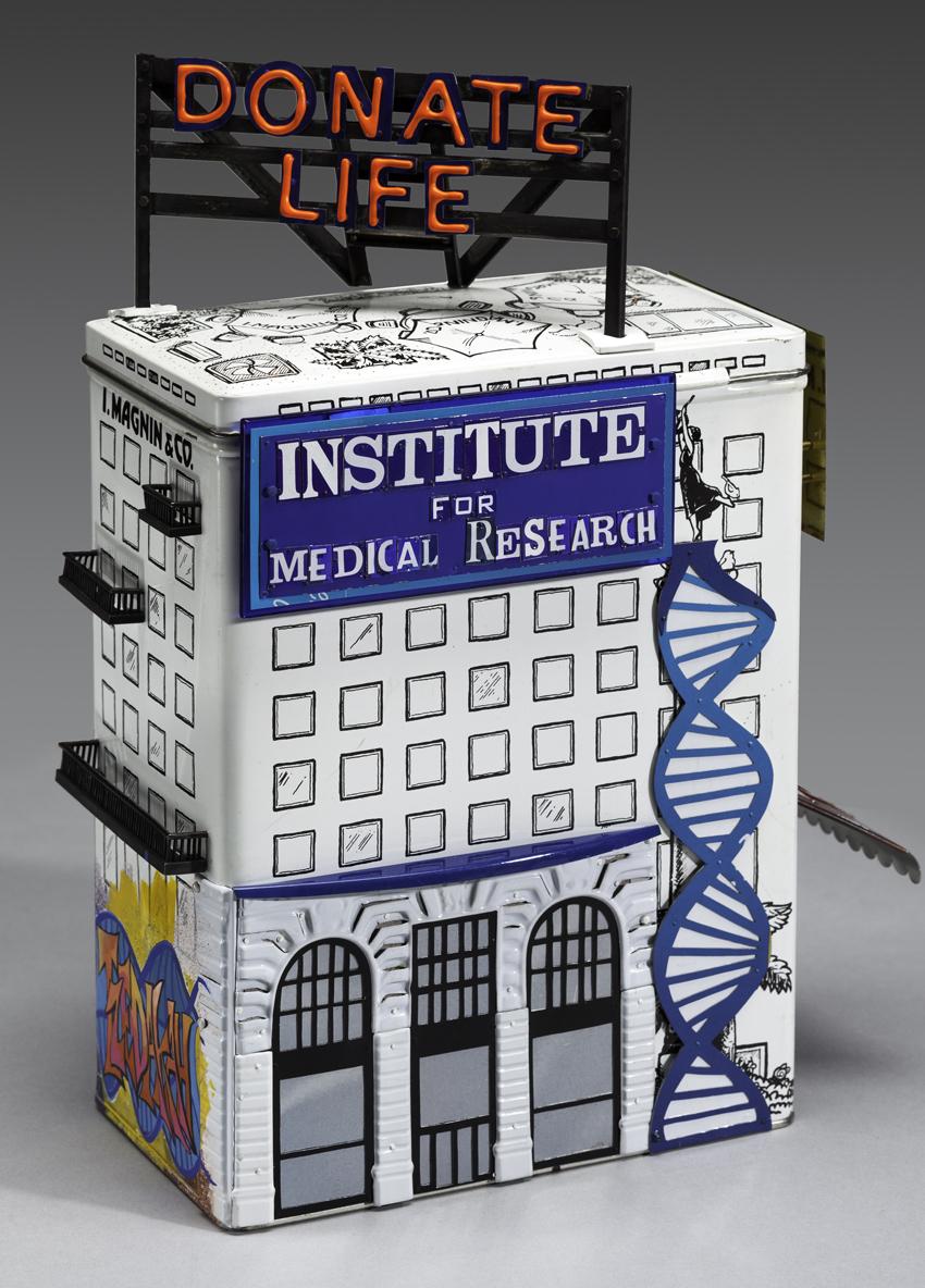 Donate Life Tzedakah box Institute of Medical Research
