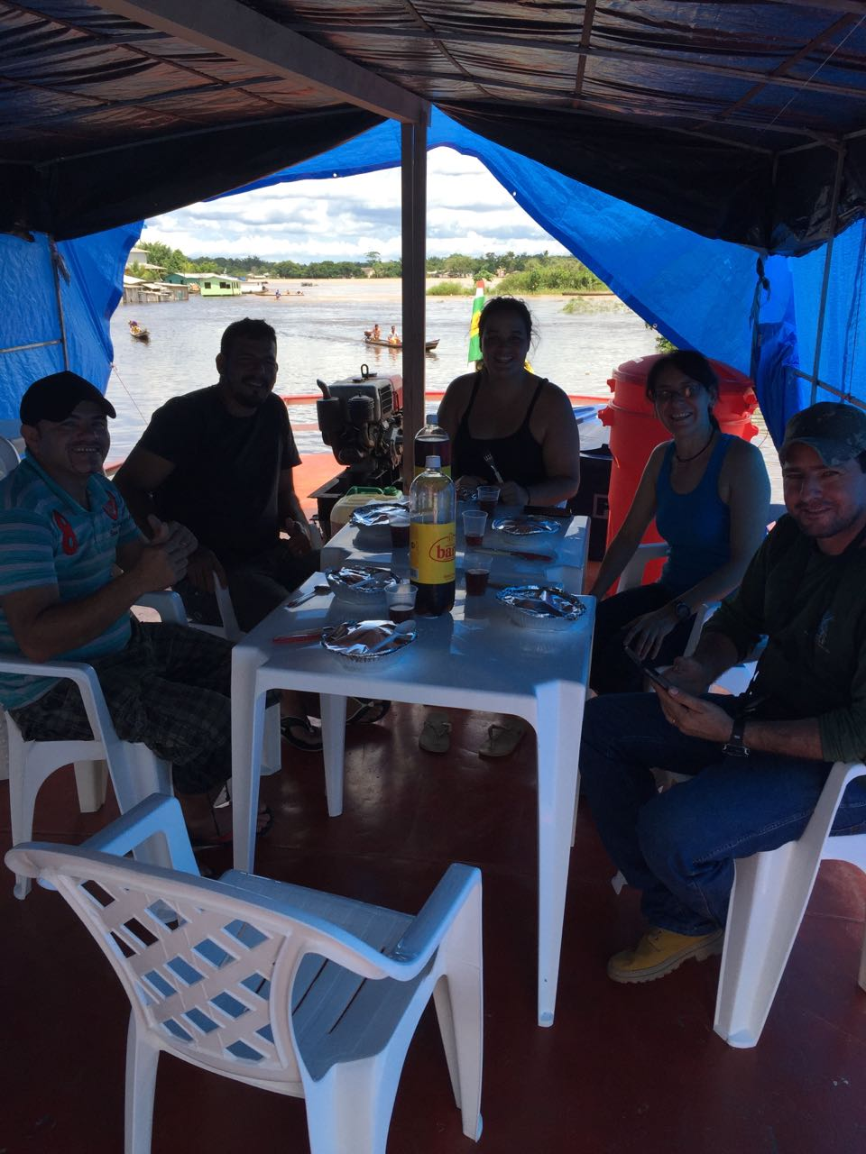 Our 1st lunch on Houseboat Amazon