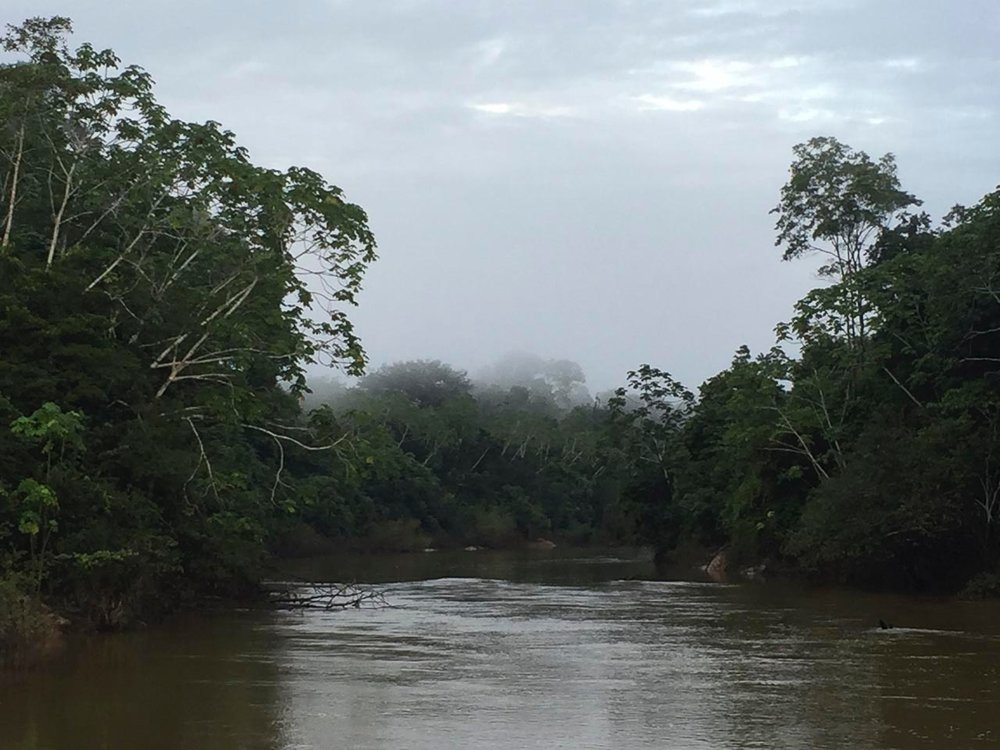 Early morning on the Rio Eiru.