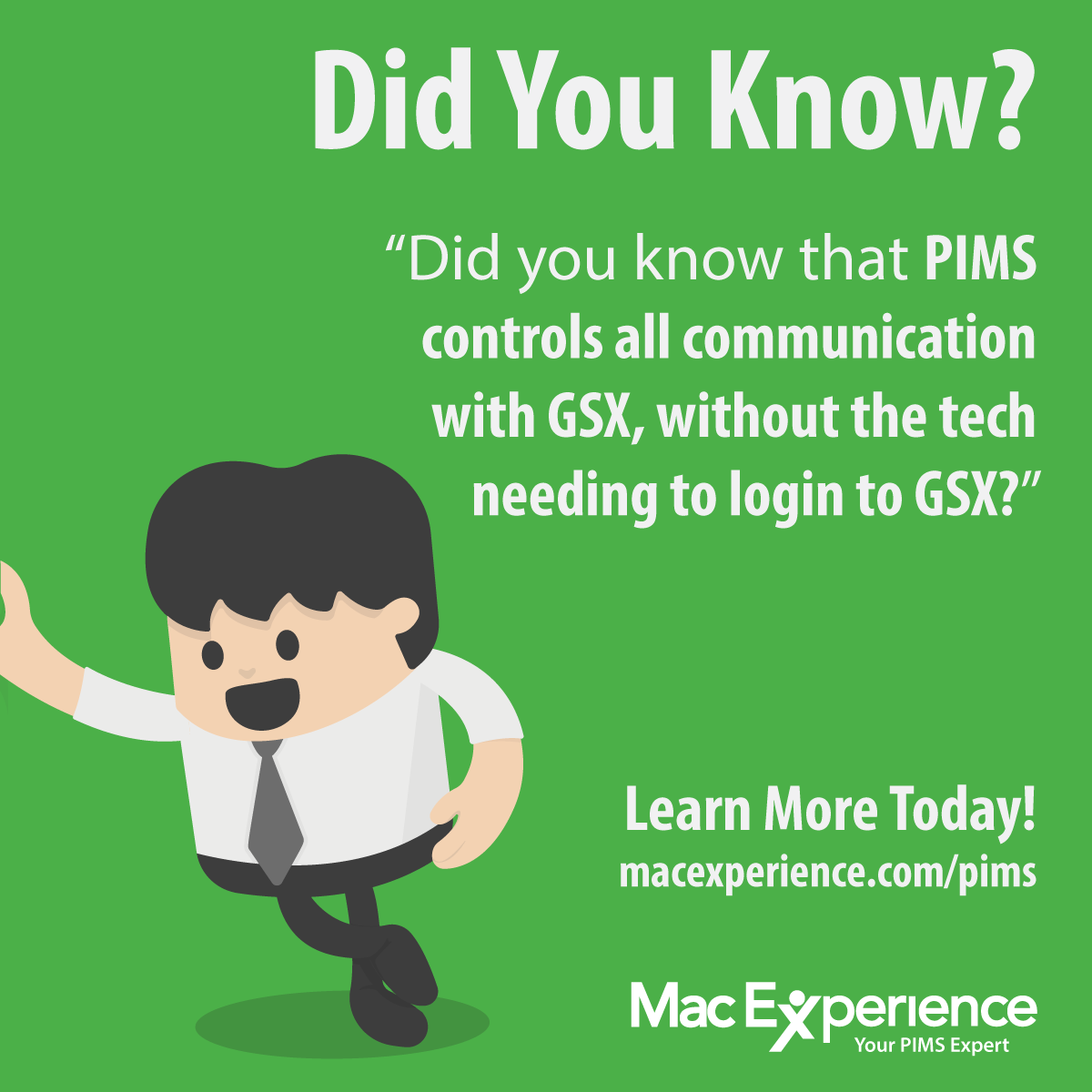 PIMS works with Apple GSX — MacExperience
