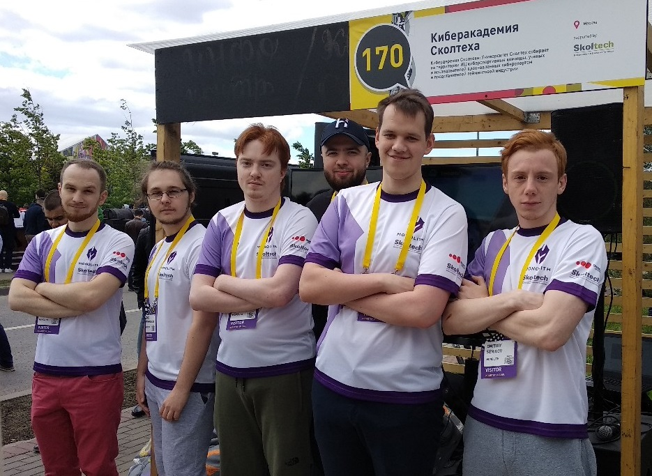 The team, pictured at the Skolkovo Startup Village. Photo: Game Enders.