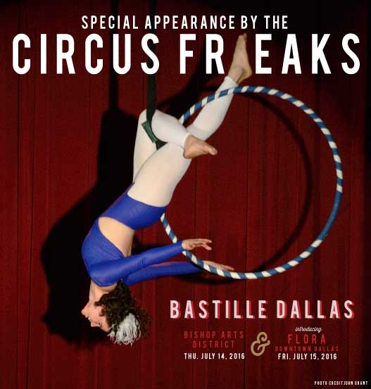 Special Appearance by the Circus Freaks The Circus Freaks are a performing ensemble that makes unusual acts of theater and other forms of professional-grade whimsy.