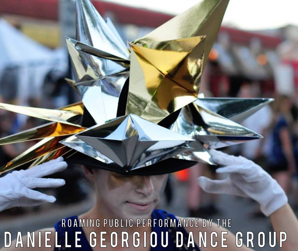 "The Danielle Georgiou Dance Group (DGDG) is happy to return for their fourth year performing at Bastille Day! The Danielle Georgiou Dance Group (DGDG) was founded in 2011 by Danielle Georgiou, and is a dance theatre group that works within the ideas of contemporary dance and physical theatre. DGDG's work reflects Georgiou's interest in social and psychological issues, and in creating compelling images of a ""new female."" The works break with the tradition of contemporary dance and tend to be more conceptual or narrative-driven. Whether collaborating or defining her own work, Georgiou wants dancers that constantly strive to transform themselves, either in image or skill. Technique is your foundation—not your identity. DGDG was recently named 2015's Best Dance Troupe by the Dallas Observer. The Show About Men (2015) was named Best New Play or Musical and cited for Outstanding Creative Contribution for Choreography by the Dallas Fort Worth Theater Critics Forum Awards. NICE (2014), which premiered at the Dee and Charles Wyly Theatre for the AT&T Performing Arts Center's Elevator Project, also won for Choreography.  ""While The Moon Watches"" -- a roaming public performance by the Danielle Georgiou Dance Group will start at 8:00pm. In collaboration with The Color Condition (head pieces and set design). Look for the moon and the couples slow dancing, and you will find us. With a simple gesture of a hug and dance -- with this simple gesture of compassion -- we hope you will be inspired to join us in a moment of unity and healing to replace painful memories with new memories of hope and joy.  ""While The Moon Watches"" is a public performance dedicated to the City of Dallas and the officers who risked and gave their lives for our protection on Thursday, July 7."